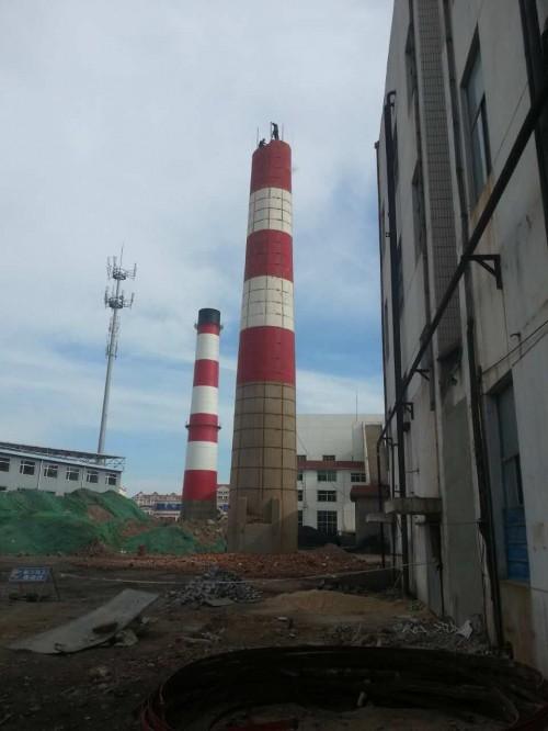 红河100米轮窑烟囱刷航标色环免费咨询*